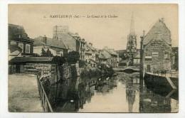 CP , 76 , HARFLEUR , Le Canal Et Le Clocher - Harfleur
