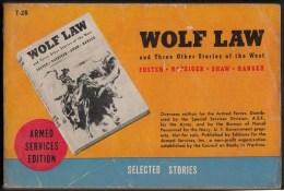 Wolf Law -  Editions Du Service Des Armées U.S - 320 Pages - Amerikaans Leger