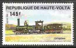 "Upper Volta Haute Volta Obervolta 1984 Mi 970 YT 626 ** Steam Locomotive ""Livingstone"" / Dampflokomotive - Treinen"