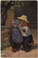 01507 A. THIELE - CHAT - CAT - Couple De Petits Chats - Thiele, Arthur