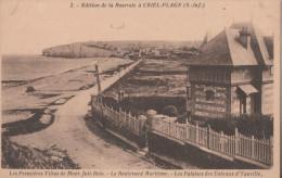 CRIEL PLAGE LES PREMIERES VILLAS DE MONT JOLIBOIS LE BOULEVARD MARITIME LES FALAISES DES COTTEAUX D YAUVILLE - Criel Sur Mer