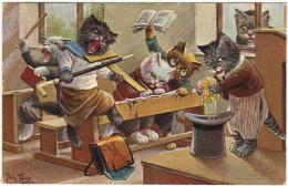 01510 A. THIELE - CHAT - CAT - Petits Chats à L´école - Thiele, Arthur