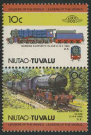 Tuvalu Niutao 1985 Mi 45-46 ** Gordon Austerity Class 2-10-0 (1943), British / U.K. / Lokomotive - Treinen