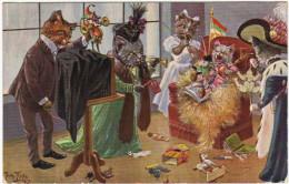 01514 A. THIELE - CHAT - CAT - Chats De La Société, Habillés élégamment - Thiele, Arthur