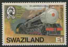 Swaziland 1984 Mi 469 YT 467 ** Locomotive No. 268 Leaving Alto Tunnel / Lokomotive MiNr. 268 Verläßt Alto-Tunnel - Treinen