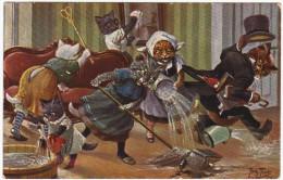 01524 A. THIELE - CHAT - CAT-  Petits Chats à La Maison D2 - Thiele, Arthur