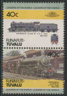 "Tuvalu Funafuti 1984 Mi 7-8 ** Locomotive ""Springbok"" Class B1 4-6-0 (1942) Great Britain / Lokomotive - Treinen"