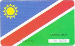 NAMIBIA(chip) - Namibian Flag, Fish River Canyon, used