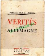 MILITARIA  GUERRE 1939-1945- VERITES SUR L´ ALLEMAGNE AVRIL 1940- - Boeken, Tijdschriften, Stripverhalen