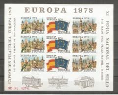 Viñeta Hb Sin Dentar De Europa De 1978 - Spanien