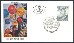 Austria 1966 FDC Cover - Opening Of The Prater Park-Vienna: Ferris Wheel - 200th Anniversary Wiener Prater - Art