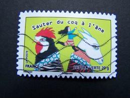FRANCE OBLITERE 2013 N° 796 SAUTER DU COQ A L´ANE SERIE CARNET SOURIRES - France