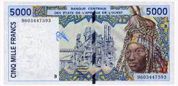 WEST AFRICAN STATES BENIN 5000 FRANCS 1996 Pick 213Be Unc - West African States