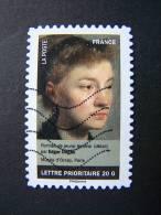 FRANCE OBLITERE 2012 N° 679  EDGAR DEGAS SERIE DU CARNET PORTRAITS DE FEMMES DANS LA PEINTURE AUTOCOLLANT ADHESIF - France