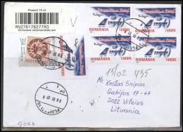 ROMANIA Postal History Brief Envelope RO 015 Aviation Plane Philatelic Exhibition - Covers & Documents