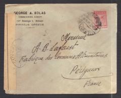 GRECE 1914/1918 Usages Courants Obl. S/enveloppe Censure Militaire Française - Greece
