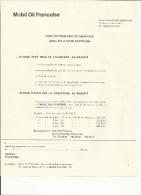 """PUBLICITE """"pour Vous Problèmes De Chauffage.."""" MOBIL OIL FRANCAISE -92 GENNEVILLIERS-vers 1960-pliure Courrier - France"""