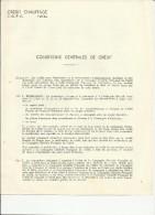 Conditions Générales De Crédit Chauffage-non Plié- éditée Par Cie Générale Française De Crédit -75 PARIS (4 Pages) - Banque & Assurance