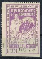 Viñeta AGRAMUNT (Lerida) 1 Pta Guerra Civil ** - Viñetas De La Guerra Civil