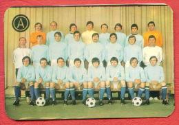 K1226 / 1975 SPORT PFC Akademik Sofia Soccer Fussball Calcio  Calendar Calendrier Kalender Bulgaria Bulgarie Bulgarien - Formato Piccolo : 1971-80