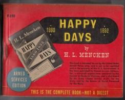 HAPPY DAYS -  Editions Du Service Des Armées U.S - 287 Pages - Forces Armées Américaines