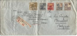Registered Cover Kotaagoeng 1938 To Belgian Congo Redirected To Belgium Backside Several Cancellations PR664 - Indes Néerlandaises