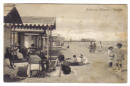 Saluti Da Pesaro Spiaggia  Viaggiata 1923 Francobollo Rovinato C.1591 - Pesaro