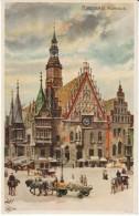 Breslau Rathaus Kley Artist Signed Image 1900s/1910s Vintage Postcard - Kley