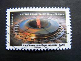 FRANCE OBLITERE 2012 N° 754   LA FLAMME DU SOLDAT INCONNU FETE DU TIMBRE: LE FEU SERIE DU CARNET AUTOCOLLANT ADHESIF - France