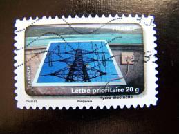 OBLITERE FRANCE ANNEE 2010 N° 407 LE TIMBRE FETE L´EAU HYDRO ELECTRICITE PYLONE - France