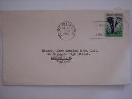 South Africa 1960 Commercial Cover Port Elizabeth To UK 4d Elephant Animal Stamp - Briefe U. Dokumente