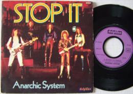 Anarchic System SP Année 1976 Stop It - Disco, Pop