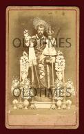 PORTUGAL - FIGURAS DE SAO JOSE E MENINO JESUS - 1900 REAL PHOTO - Religion & Esotericism