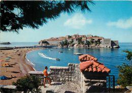 Sveti Stefan Island, Montenegro Postcard Used Posted To UK 1970 - Montenegro