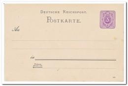 Duitse Rijk, Postcard Unused - Postwaardestukken