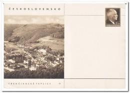 Tsjechoslowakije, Postcard Unused, Trencianske Teplice - Postwaardestukken