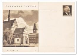 Tsjechoslowakije, Postcard Unused, Pardubice - Postwaardestukken