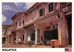 Jonker Street, Meleka, Malaysia Postcard Used Posted To UK 2010 Stamp - Malaysia