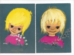 2 CPM - KROL  (heureux Anniversaire - Bonne Fête) - Illustrators & Photographers