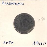 Allemagne  10 Pf 1942 F - [ 4] 1933-1945 : Third Reich