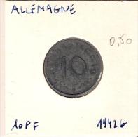 Allemagne  10 Pf 1942 G - [ 4] 1933-1945 : Third Reich
