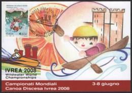 CANOEING / KAYAK - ITALIA IVREA 2008 - WILDWATER WORLD CHAMPIONSHIPS - ANNULLO 6.6.2008 - CARTOLINA UFFICIALE - Kano
