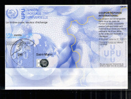7052 IRC IAS CRI - International Reply Coupon - Antwortschein T34 Saint - Marin San Marino Mit Stempel SM20100407AA - Non Classificati