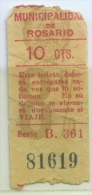 TICKET TRAMWAY ROSARIO (ARGENTINA) // 1929 // (A3) - Tramways