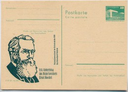 ERNST HAECKEL Potsdam 1984 East German Postal Card P84-3-84 Special Print C60 - Medizin