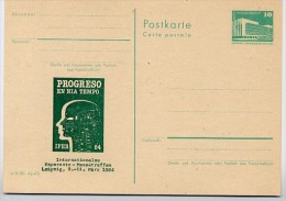 ESPERANTO -TREFFEN  LEIPZIG DDR P84-4a-84 C61-a Postkarte Zudruck 1984 - Esperanto