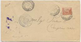 1917 MICHETTI C.20 SENZA FILIGRANA (Sass. 107 E.20+) PIEGO 20.4.17 TARIFFA MANOSCRITTI USO ANTE EMISSIONE CON FILIGRANA - Storia Postale