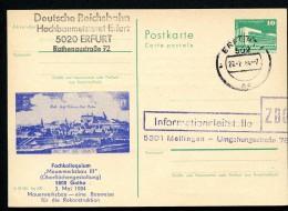 MAUERWERKSBAU DDR P84-9-84 C65 Postkarte Zudruck Gotha Anlassgebraucht 1984 - Architektur
