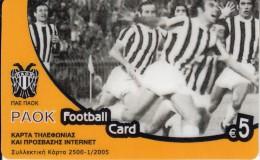 GREECE - PAOK FC, Algonet Prepaid Card 5 Euro, Tirage 2500, 01/05, Used - Sport