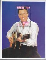 BURKINA FASO, 1995 ELVIS PRESLEY MINISHEET MNH - Burkina Faso (1984-...)